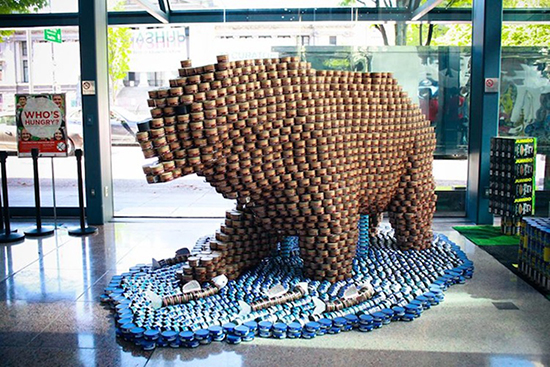 Canstruction 2016 - install 2