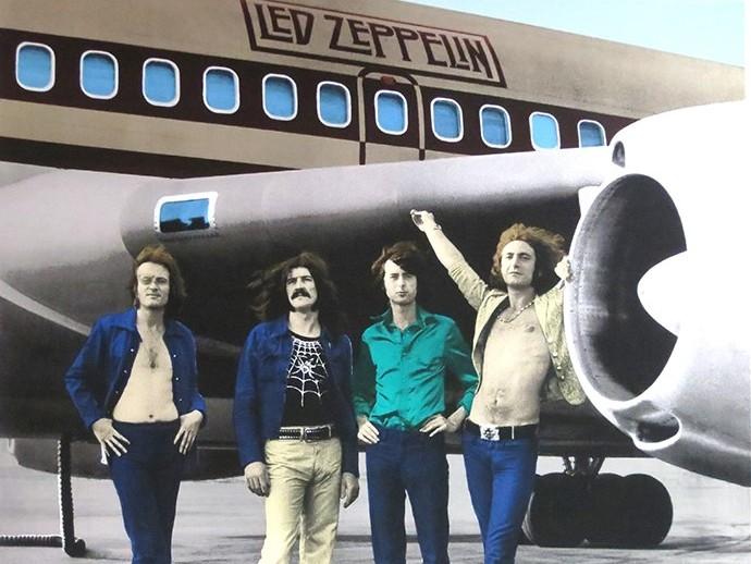 Zeppelin plane silkscreen 1973